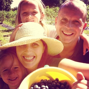 Picking blueberries with the family is seriously fun!