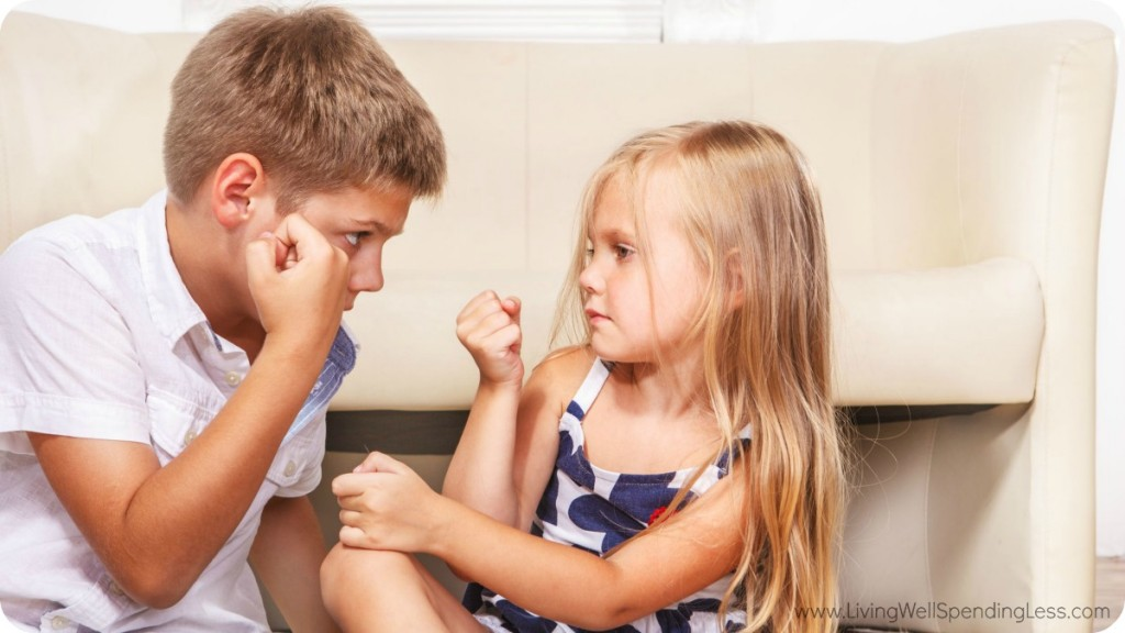 Stop sibling rivalry between brothers and sisters, by spending time with each child individually.