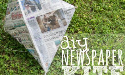 DIY Newspaper Kite