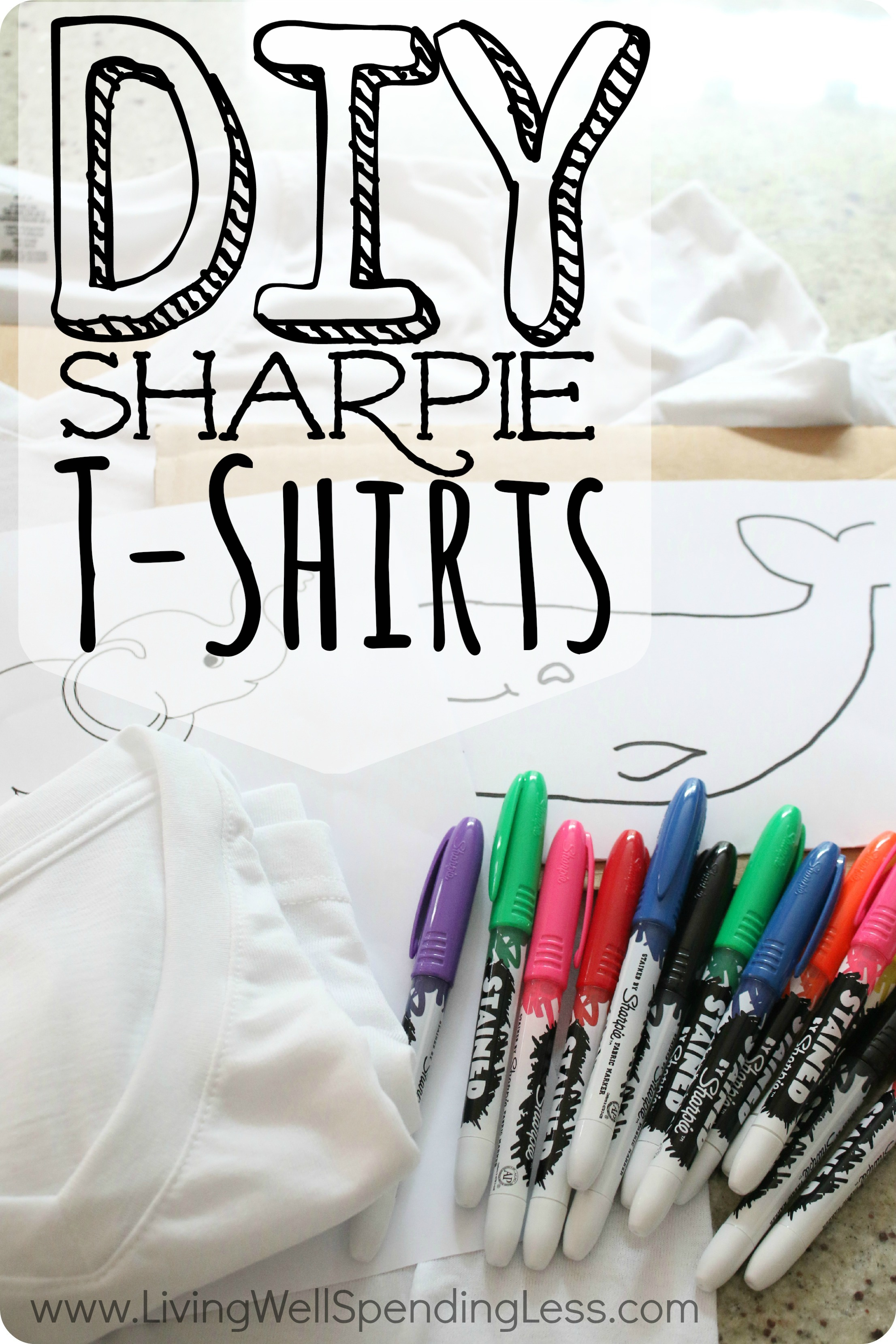 DIY Sharpie T-Shirts: A great summer project your kids will love!