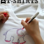 Want to let your kids express themselves without all the mess of tie-dye? Instead create diy sharpie t-shirts they will love designing and wearing!