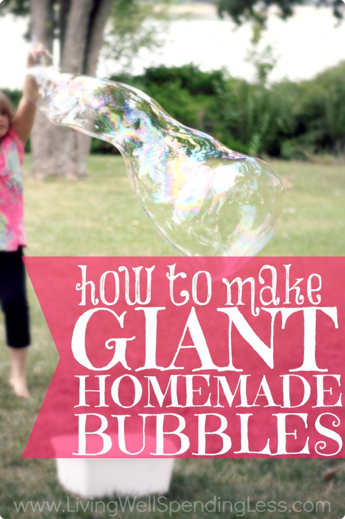 How to make giant homemade bubbles.