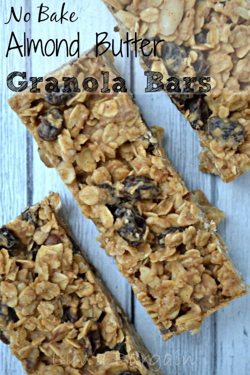 No-Bake-Almond-Butter-Granola-Bars