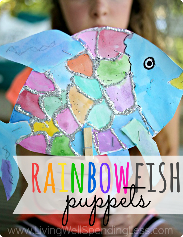 Rainbow Fish Puppets | Summer Fun with Kids | DIY Crafts | DIY for Kids