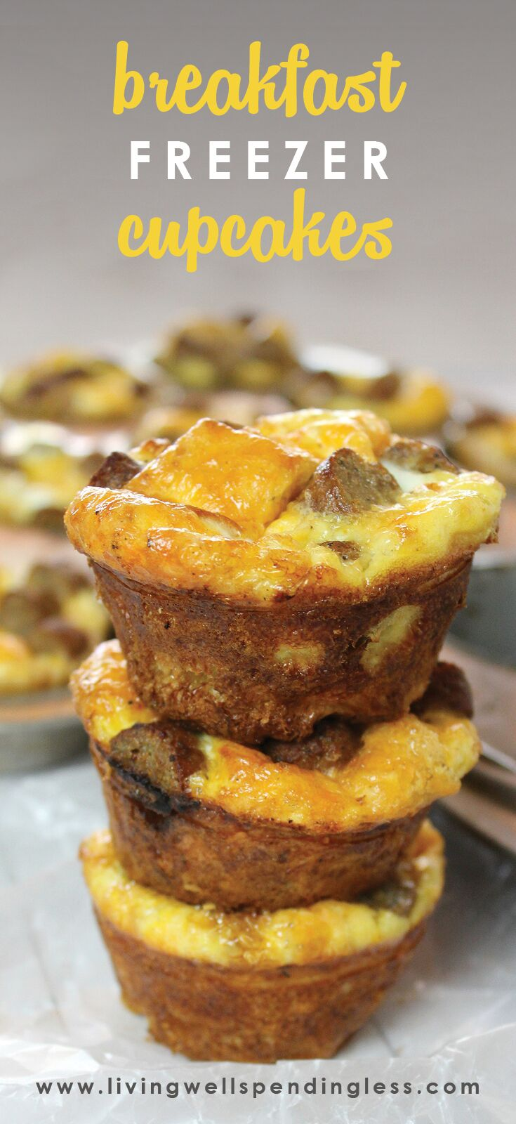 Freezer Breakfast Cupcakes | Breakfast Cupcakes | Breakfast Cupcakes Ideas | Breakfast Cupcakes Recipe | Simple Breakfast Cupcakes | Easy Freezer Meals | Meal Planning | Easy Freezer Breakfast Cupcakes