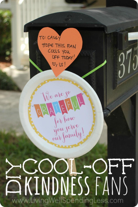 DIY Cool Off Kindness Fans