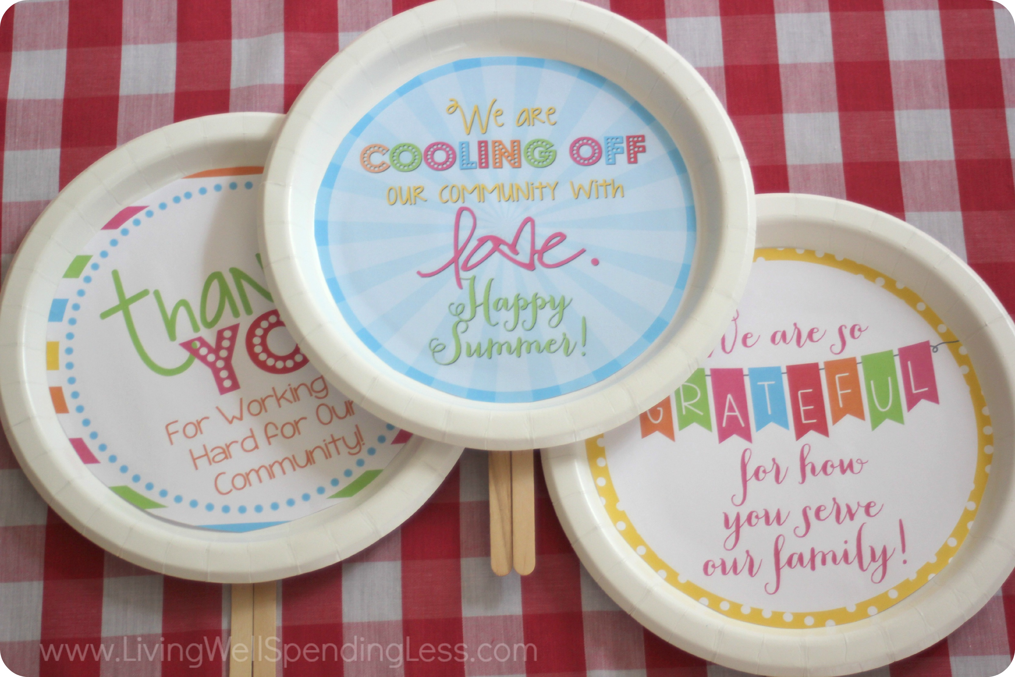 DIY Cool-Off Kindness Fans