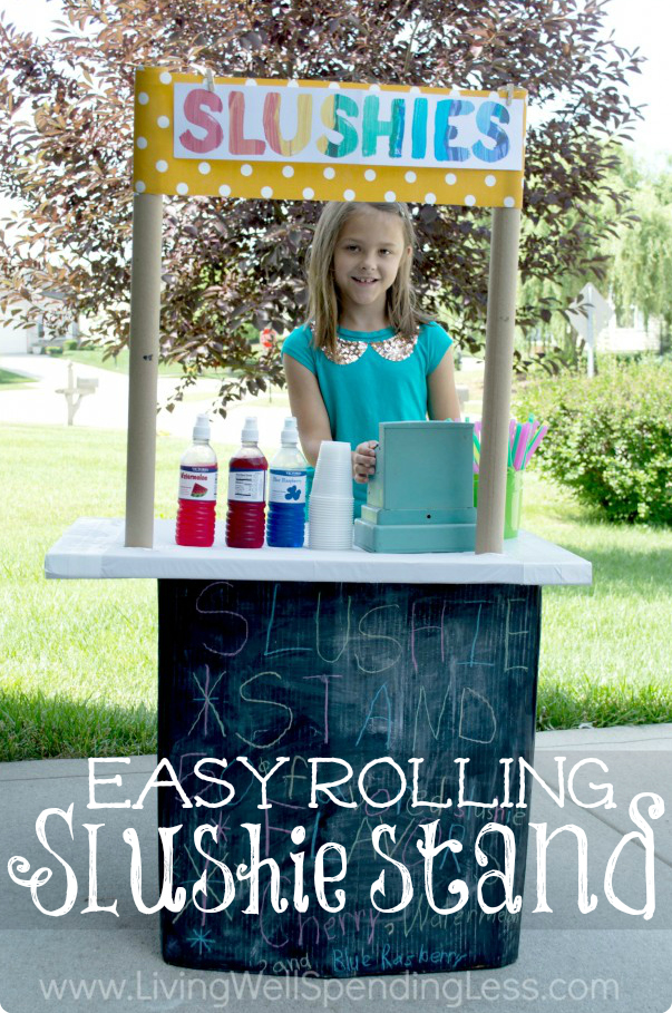 Easy Rolling Slushie Stand Vertical