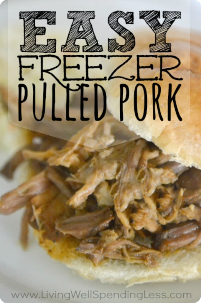Easy Freezer Pulled Pork Recipe: the perfect food for your next party!