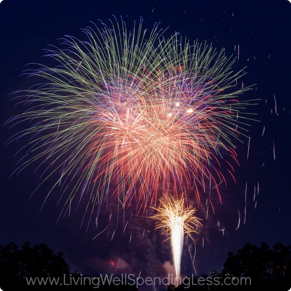 Watching fireworks is one of the 12 simple ways to celebrate freedom!