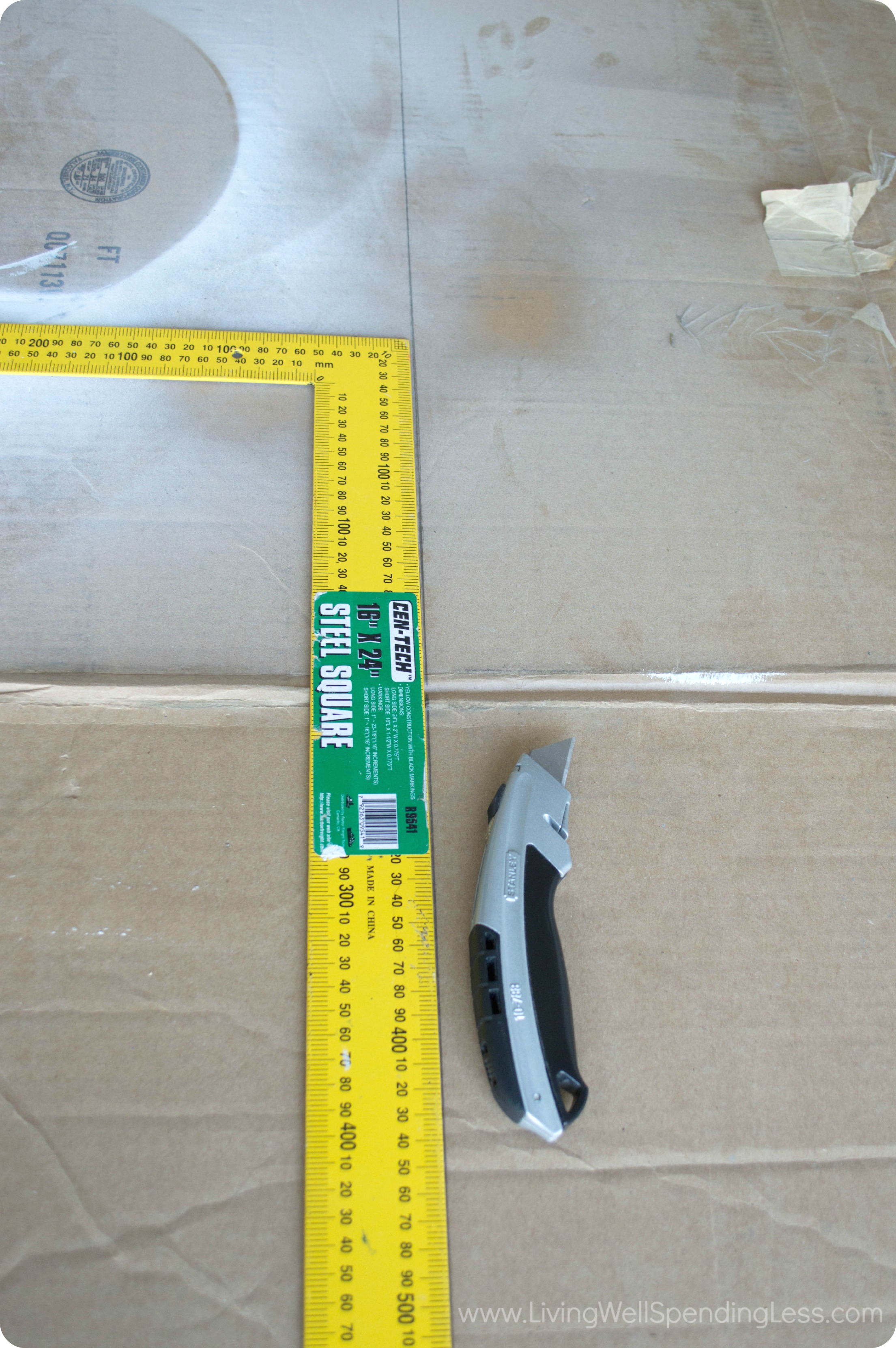 Measure and cut a piece of cardboard