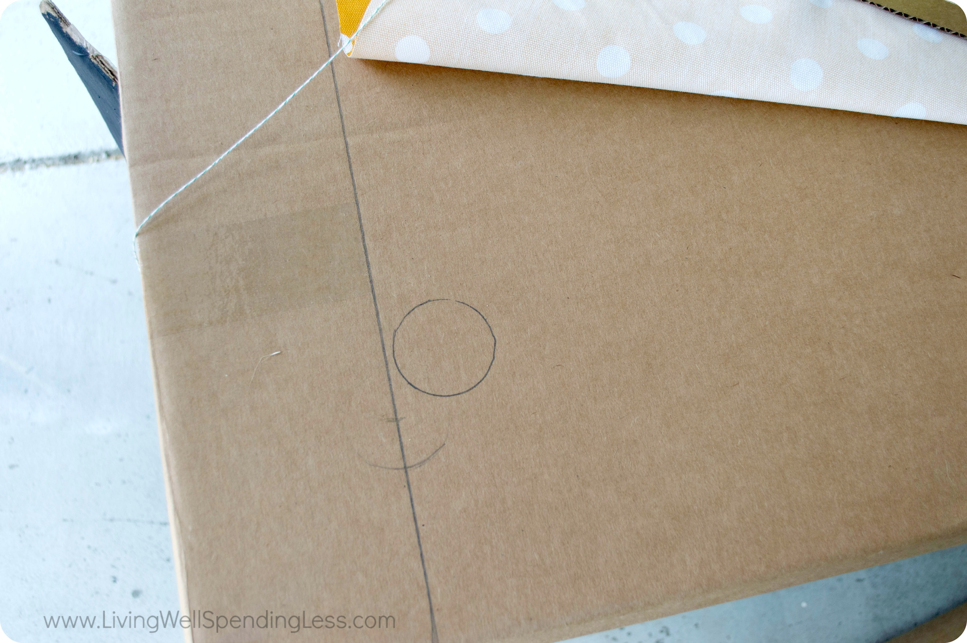 A larger and thinner piece of cardboard will be used for the slushie stand counter