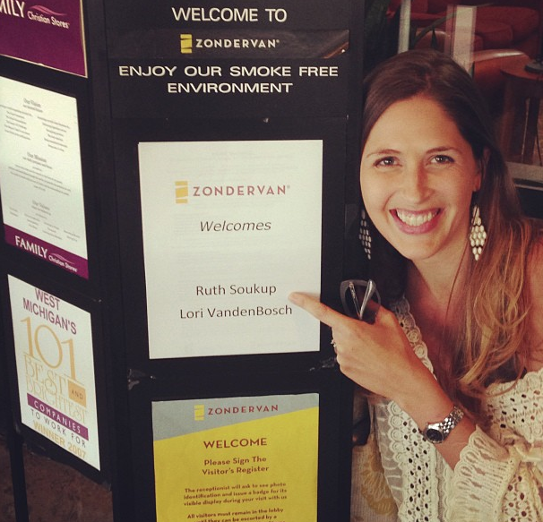 Ruth's first book deal with Zondervan Publishing