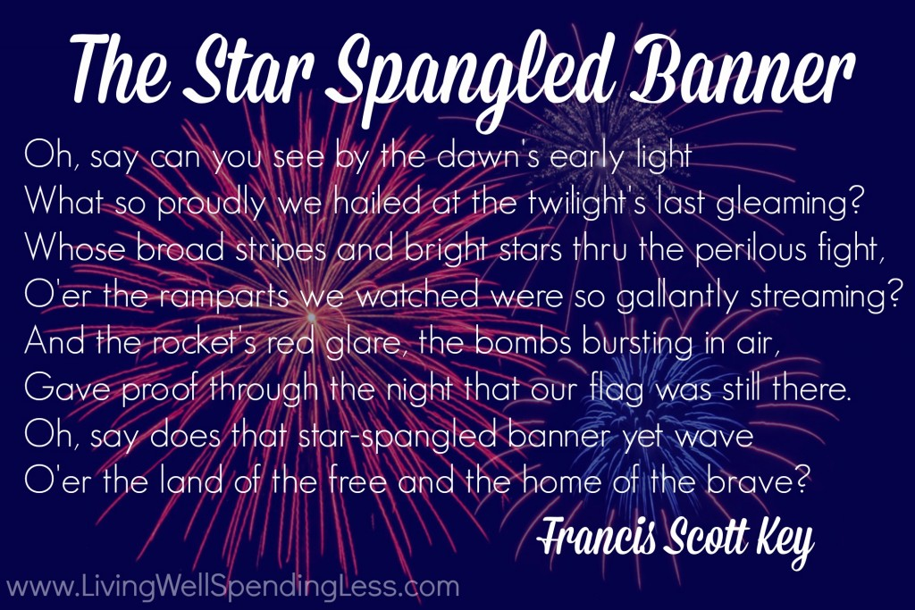 Learning all of the words to the National Anthem is one of the 12 simple ways to celebrate freedom!