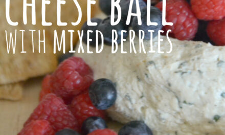 Summer Cheese Ball with Mixed Berries