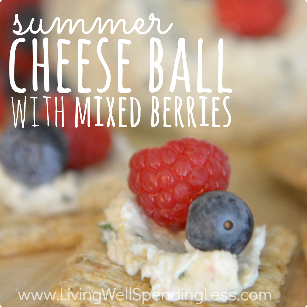 Summer Cheese Ball with Mixed Berries | SUMMER BERRY FRUIT DIP | Fruit and Cheese Ball | Party Food Selections