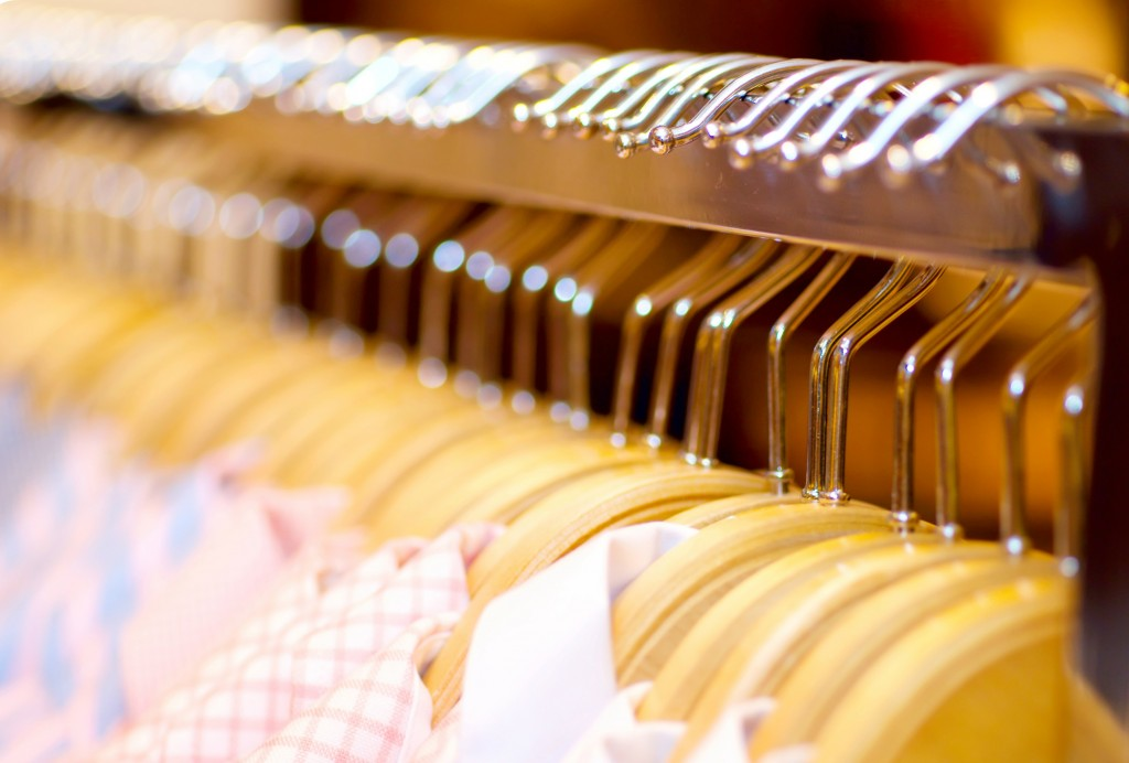 Using proper hangers for clothes will help keep them in shape longer.
