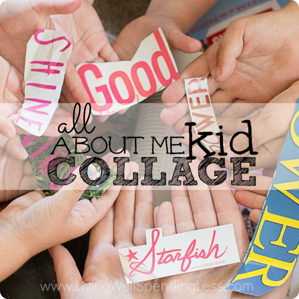 All About Me Kid Collage