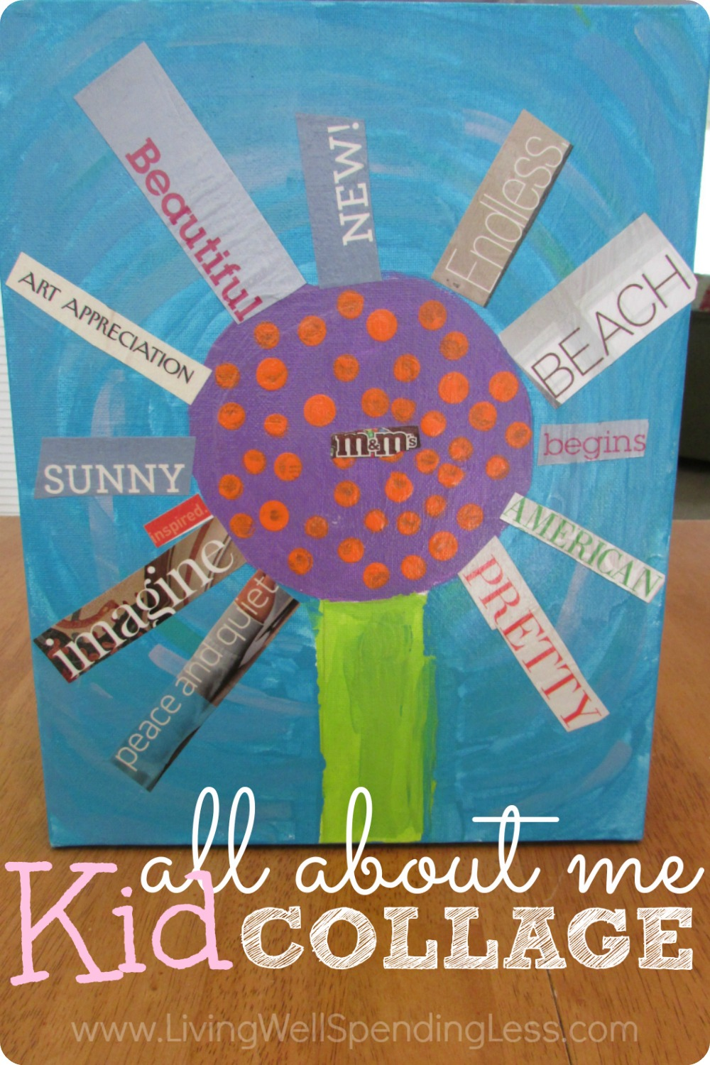 Summer Fun with Kids | All About Me Kid Collage | Summer DIY Crafts | Summer Activities