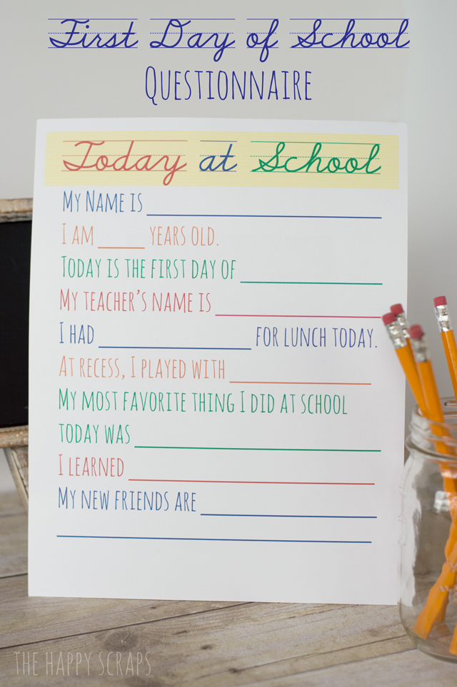 Back-to-School-Questionnaire