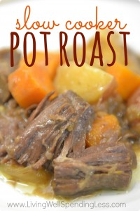 Easy Slow Cooker Pot Roast Vertical