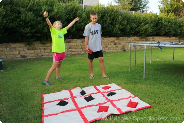 Giant DIY Tic Tac Toe Board
