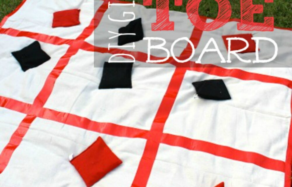 Giant DIY Tic Tac Toe Board