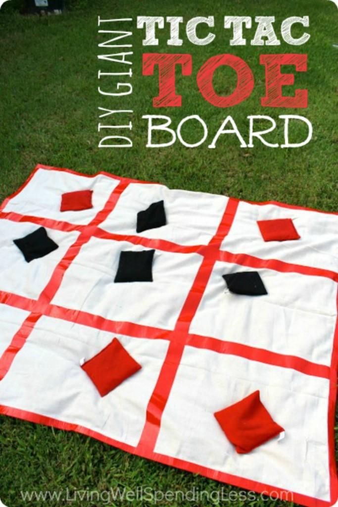Giant DIY Tic Tac Toe Board | DIY Outdoor Tic Tac Toe | Family Games | Outdoor Activity