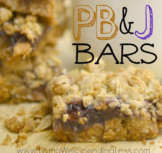 Easy Peanut Butter & Jelly Bars