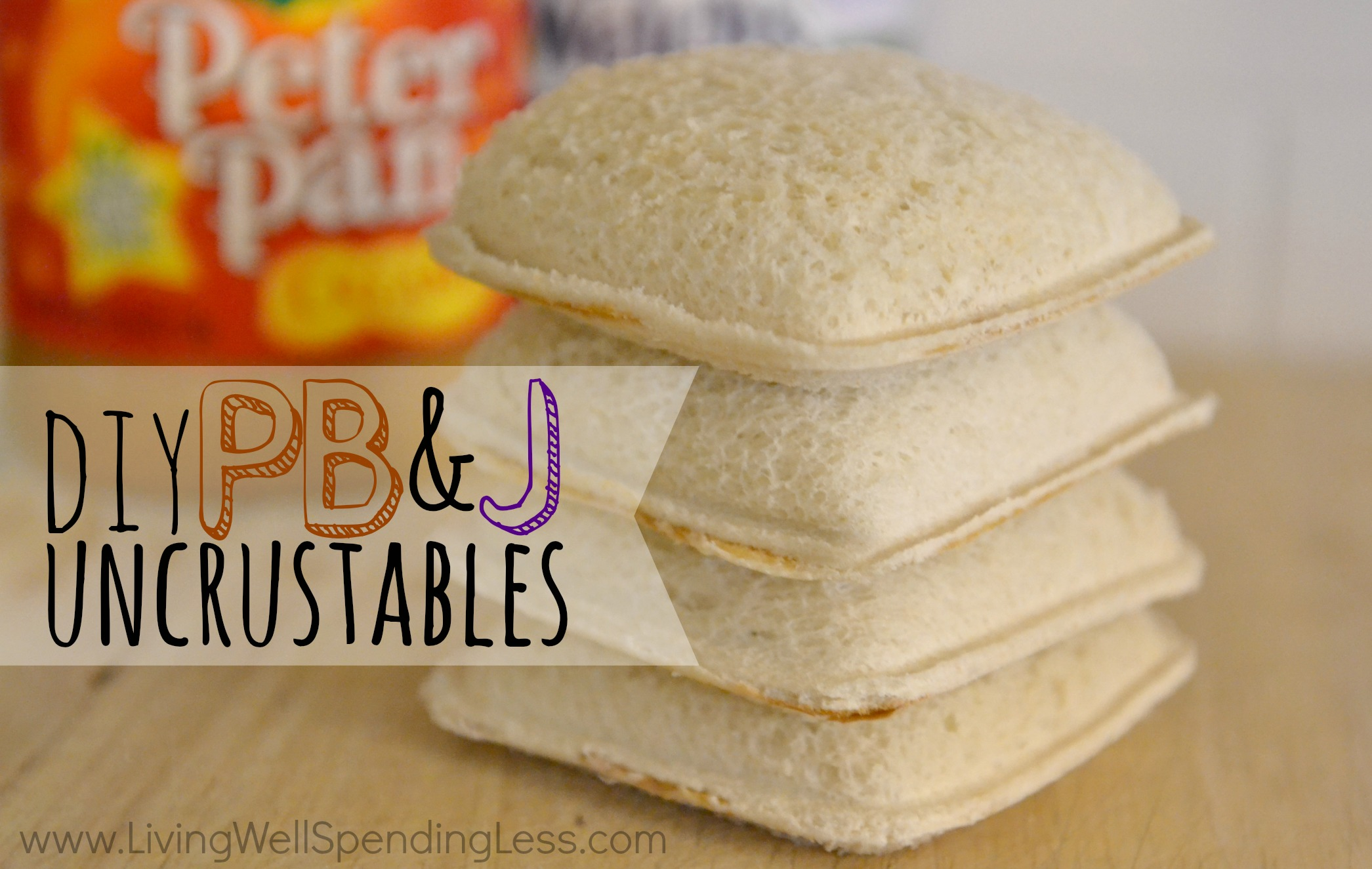 These DIY PB&J uncrustables are easy to make and freezer friendly.