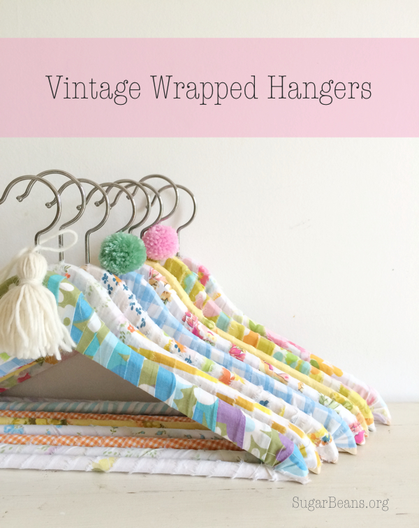 Vintage Wrapped Hangers. SugarBeans.org