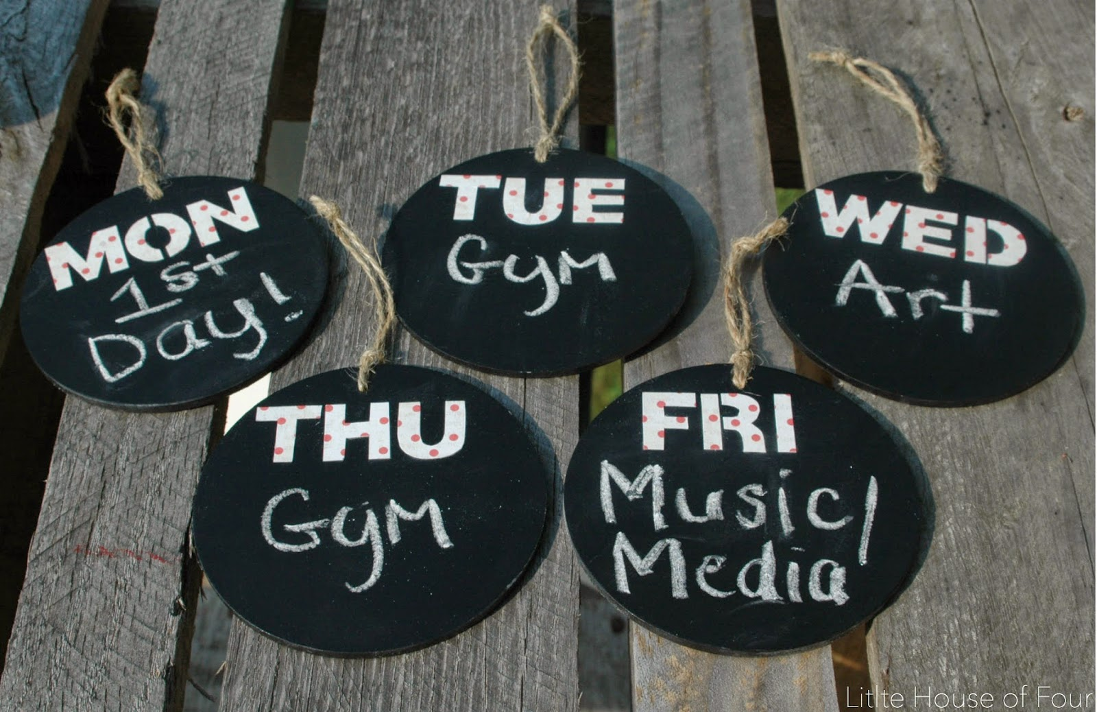 days of the week tags