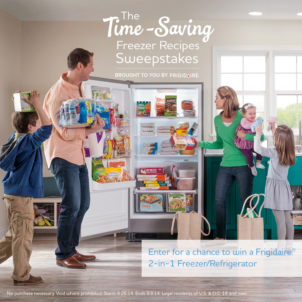 Want to Win a Freezer?  Enter the Frigidaire Time Saving Sweepstakes!