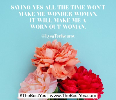 """Saying """"yes"""" all the time will cause a stressful life."""