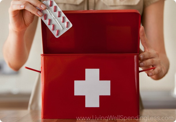 Pack an emergency kit with all the items you'll need like band aids, allergy pills and antacids.