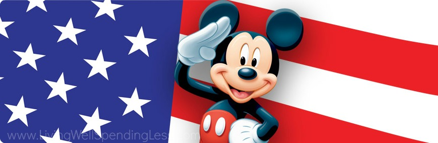 Mickey Mouse salutes the troops: Walt Disney offers military discounts to their theme parks.