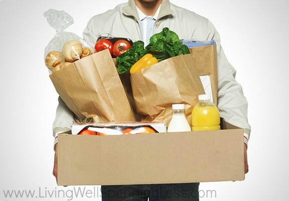 Comfort a grieving friend with little actions: delivering a bag or box of healthy groceries to help.