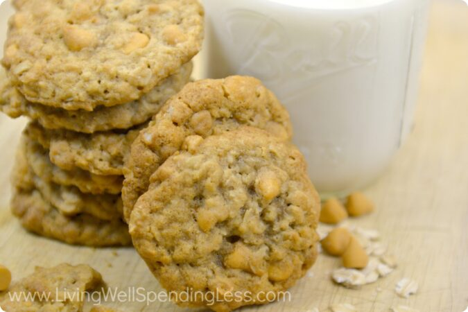 Best Ever Oatmeal Butterscotch cookies