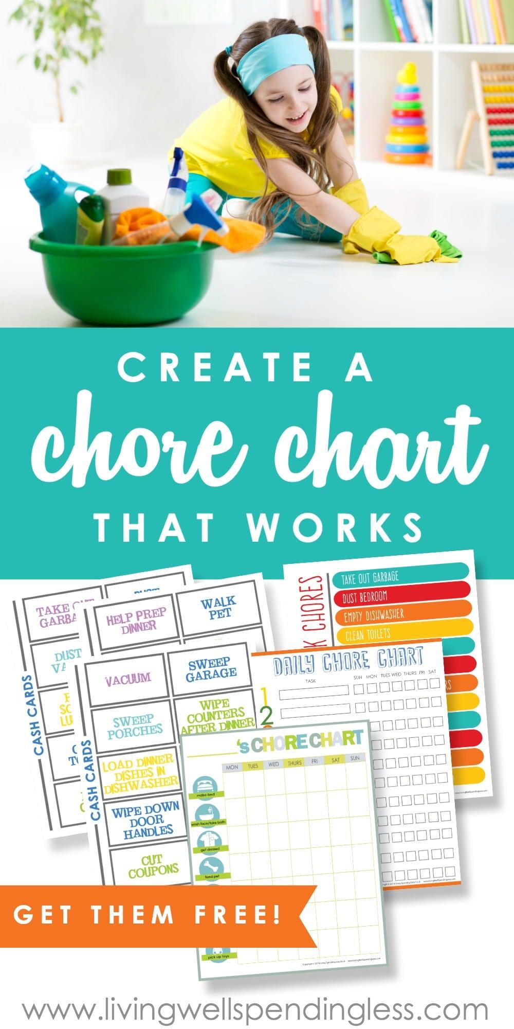 Diy Chore Chart Poster Board