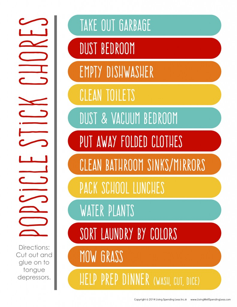create a chore chart that works | free chore charts for kids