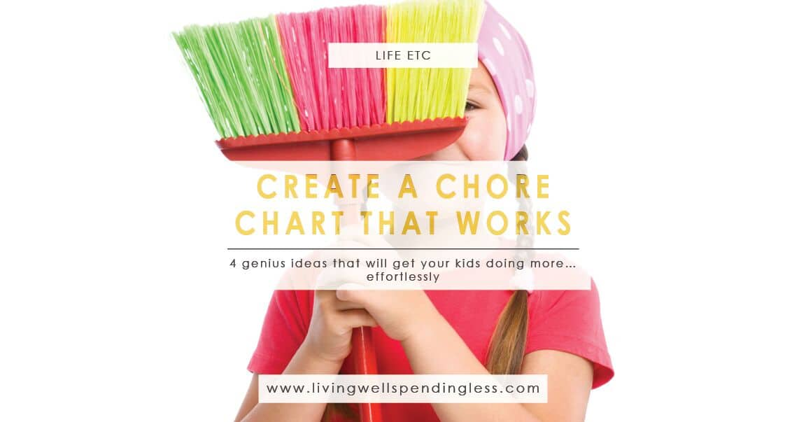How to Make a Chore Chart for Kids | Living Well Spending Less®
