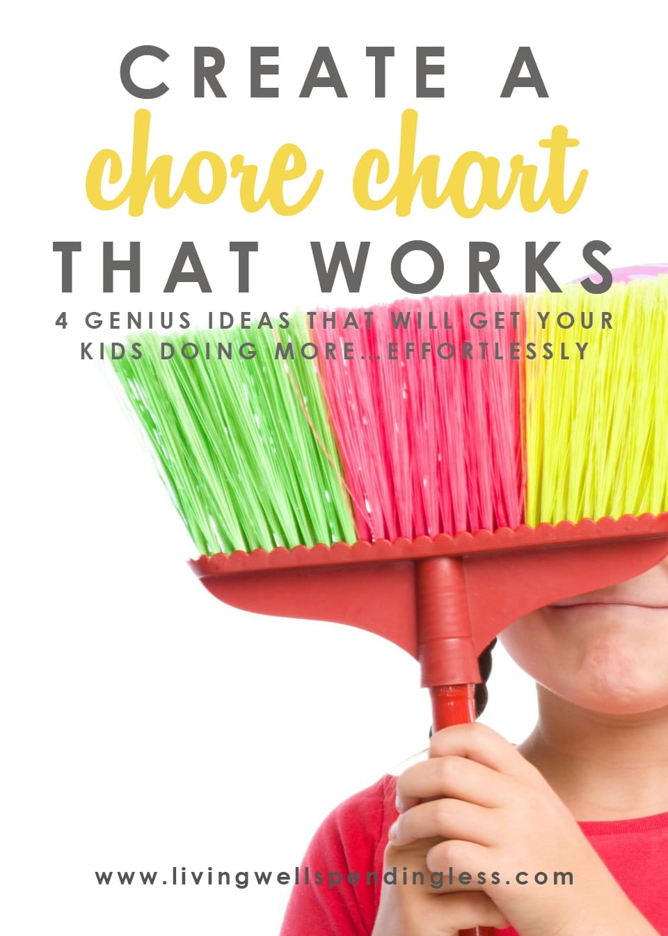Are chores around your house well, a chore? It can be a challenge to get kids motivated to help out around the house, but getting kids to do their chores not only makes family life run smoother, it is essential to their own development and self-esteem. Don't miss these four simple steps you can take right now to create a chore chart that works. This in-depth post even includes four different types of printable chore charts, plus a helpful list of age-appropriate chores!