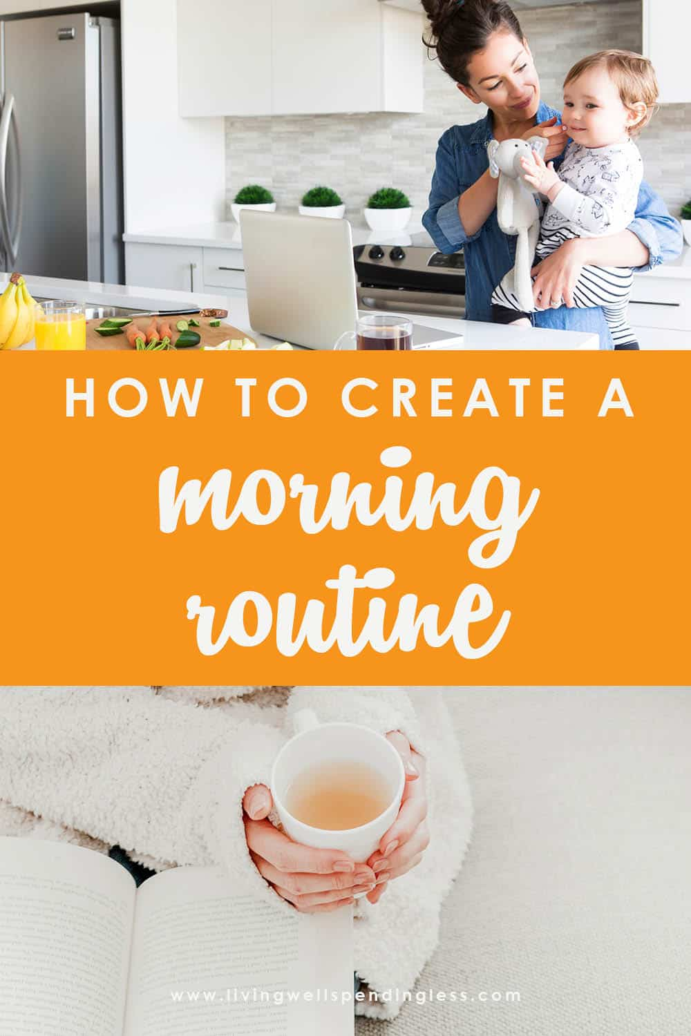 Do you ever wish your mornings ran more smoothly, or better yet, on autopilot? If you ever struggle with getting yourself or your family out the door, you will not want to miss these 6 simple steps for creating a morning routine that truly works. FREE PRINTABLES are included to help you make the most of your morning! #morningroutine #morningrhythm #routines #simplehabits #mornings #routines #timemanagement