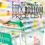How to create a rock bottom price list square 2