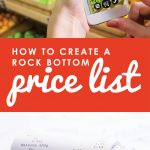 Want to save more money on groceries? Surprisingly, the biggest key to success is not using coupons, but knowing exactly when to stock up so that you only ever buy things at their lowest possible price. Don't miss this helpful post for 5 simple steps to creating a rock bottom price list of your very own.