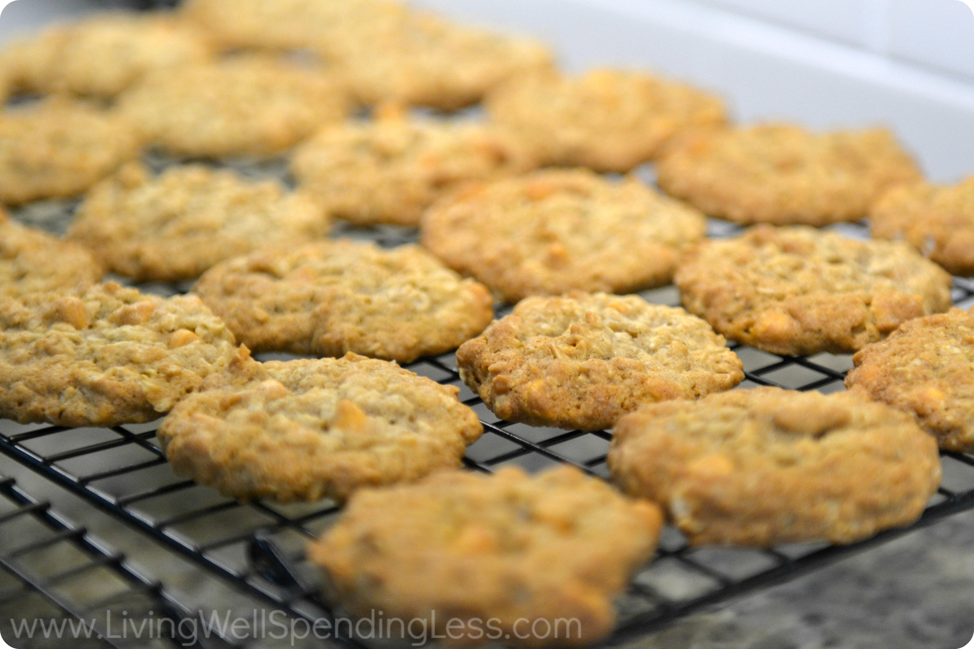 Once baked, allow the cookies to cool on a wire rack.