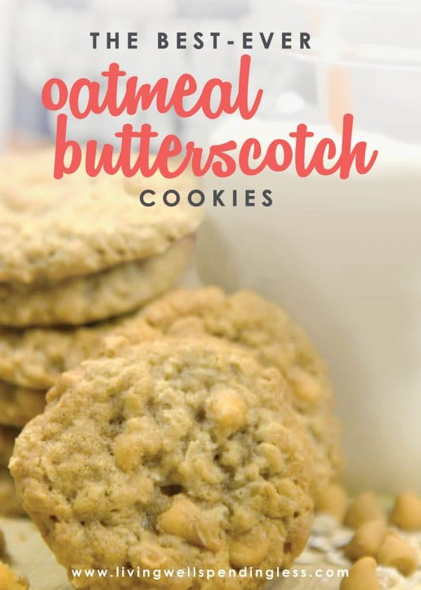 Looking for a delicious and chewy oatmeal cookie? These oatmeal butterscotch cookies are so yummy and taste as good out of the freezer as the oven!