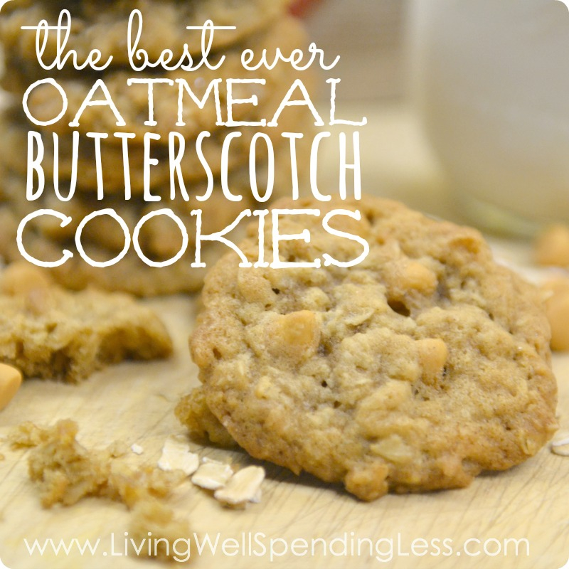 Oatmeal Butterscotch Cookies | DIY Oatmeal Cookie Recipes | Easy Yummy ...