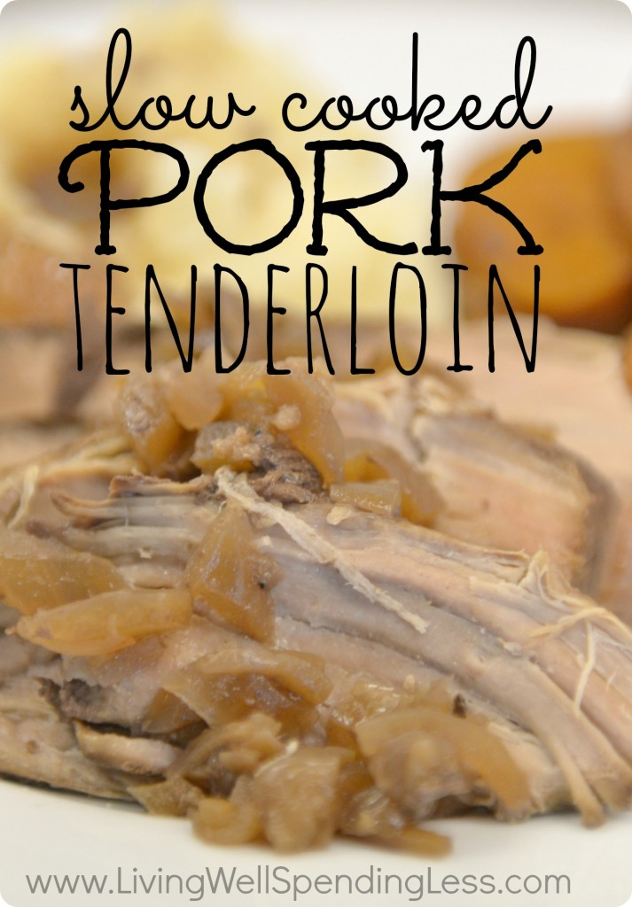 Juicy, delicious slow-cooked pork tenderloin recipe--so easy!