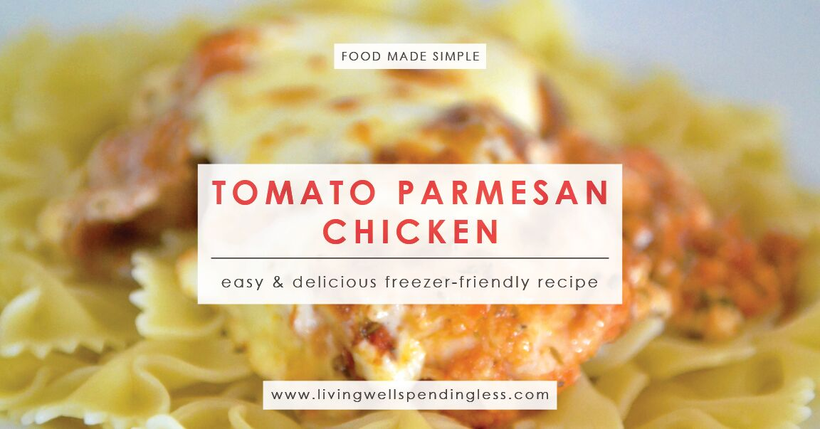 Tomato Parmesan Chicken | Freezer Meals | 10 Meals in an Hour